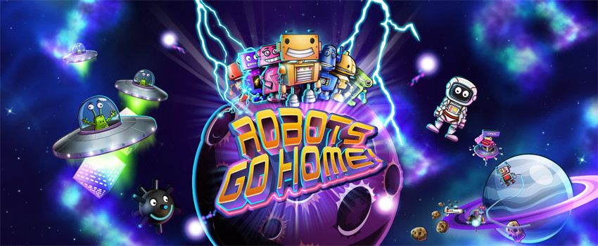 robots go home! mobile game banner